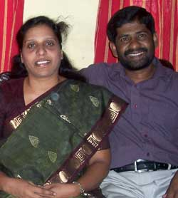 Pastor Raja and Jebasheela
